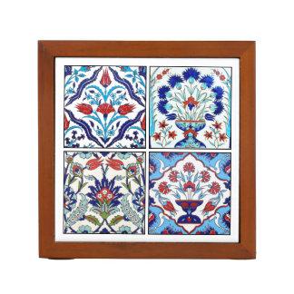 Turkish tiles collection desk organiser