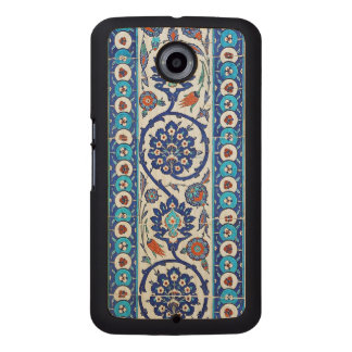 turkish tiles wood phone case