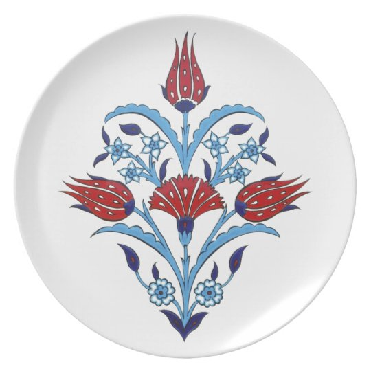 Turkish tulips plate