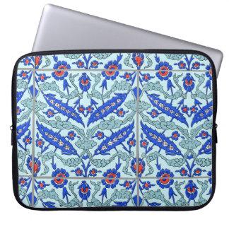 "Turkish Turquoise Border Tile Pattern 15"" Laptop S Computer Sleeves"