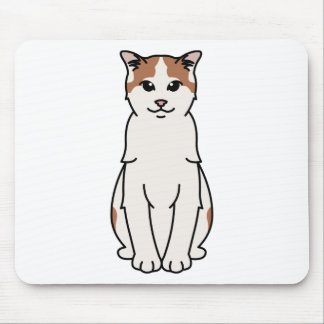 Turkish Van Cat Cartoon Mouse Pad