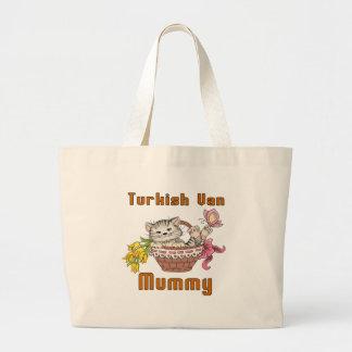 Turkish Van Cat Mom Large Tote Bag