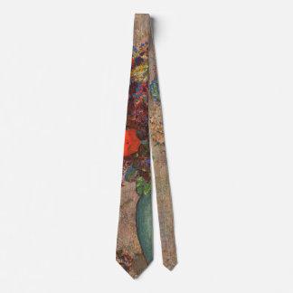 Turkish Vase, Odilon Redon, Vintage Flowers Floral Tie