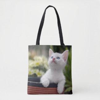 Turkish White Kitten (2.5 Months Old ) Tote Bag
