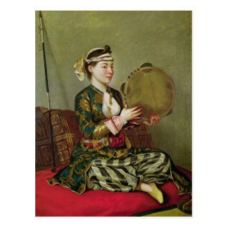 Turkish Woman with a Tambourine Postcard