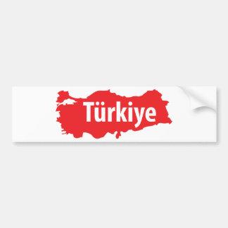 Türkiye contour icon bumper sticker