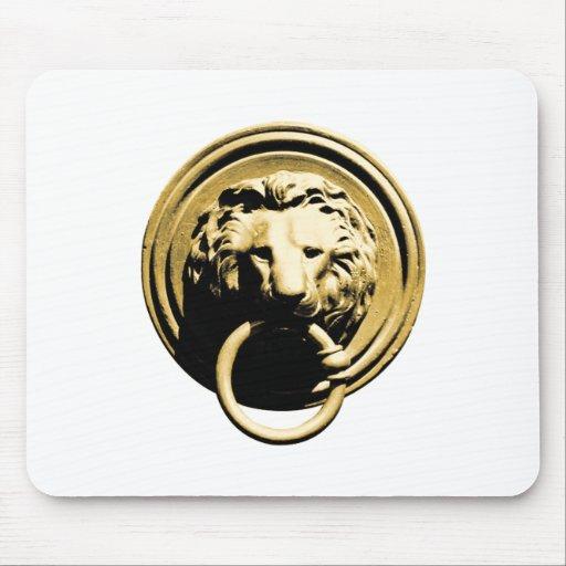 Türklopfer lion door more knocker RAP by lion Mouse Pads