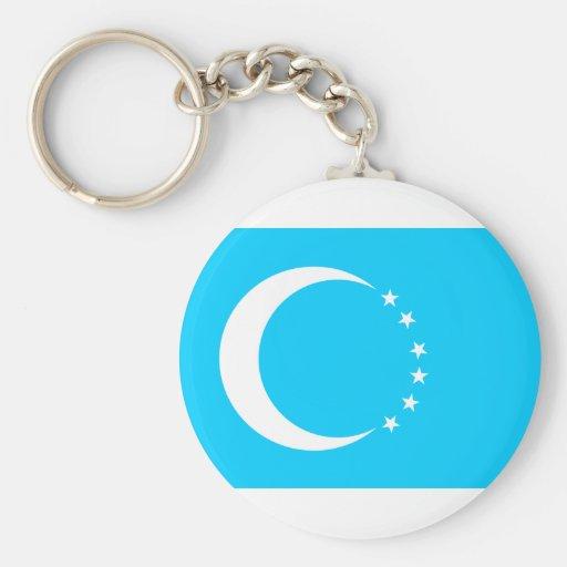 Turkmen, Democratic Republic of the Congo Key Chain