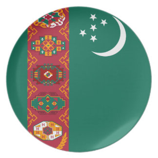 Turkmen Flag Plate