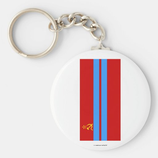 Turkmen SSR Flag Keychain