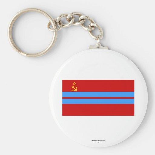 Turkmen SSR Flag Keychains