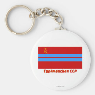 Turkmen SSR Flag with Name Keychains