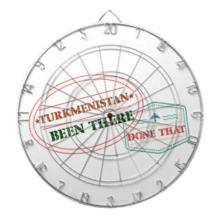 Turkmenistan Been There Done That Dartboard