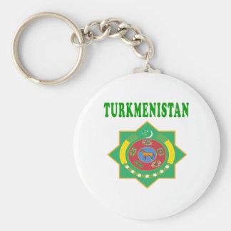 Turkmenistan Coat Of Arms Designs Keychain