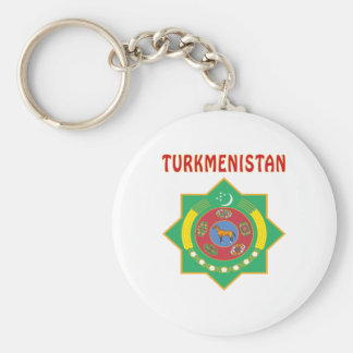 TURKMENISTAN Coat Of Arms Keychain