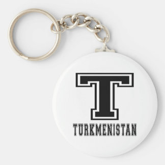 Turkmenistan Designs Keychain