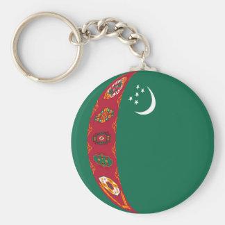 Turkmenistan Fisheye Flag Keychain