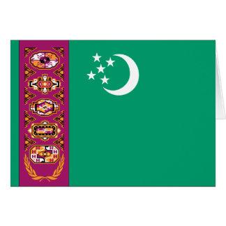 Turkmenistan Flag Card