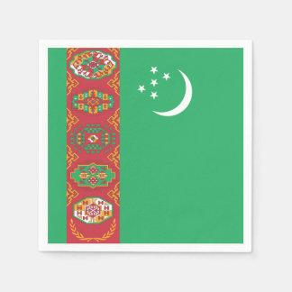 Turkmenistan Flag Disposable Napkin