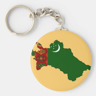 Turkmenistan flag map key chains
