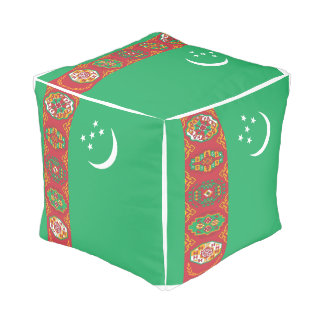 Turkmenistan Flag Pouf