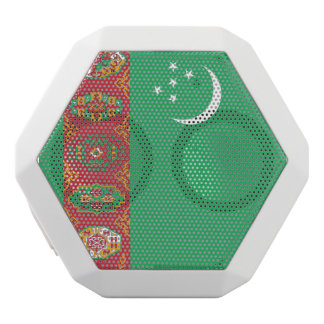 Turkmenistan Flag White Bluetooth Speaker