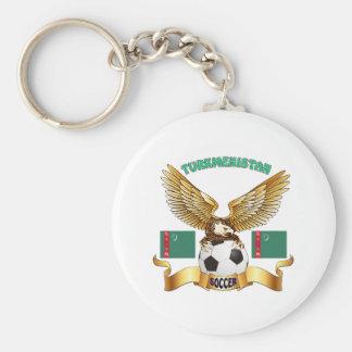 Turkmenistan Football Designs Keychain