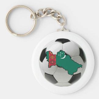 Turkmenistan national team basic round button key ring