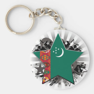 Turkmenistan Star Key Chains