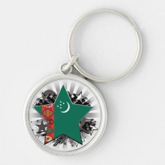 Turkmenistan Star Keychains