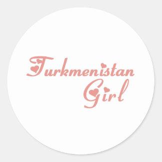 Turkmenistan Round Sticker