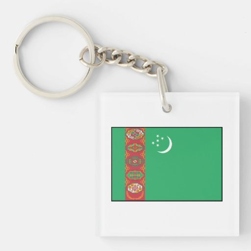 Turkmenistan – Turkmen Flag Acrylic Keychains