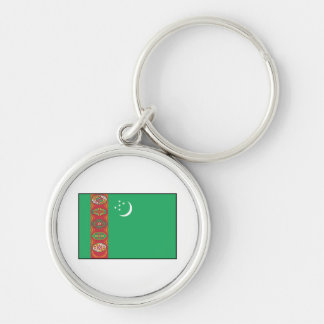 Turkmenistan – Turkmen Flag Keychain