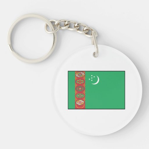Turkmenistan – Turkmen Flag Acrylic Key Chain