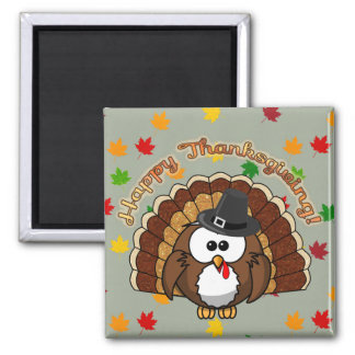 turkowl - Thanksgiving cards and more Square Magnet