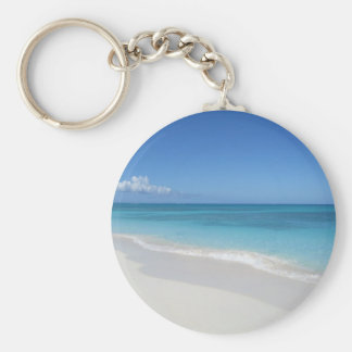 Turks and Caicos Dream Beach Basic Round Button Key Ring