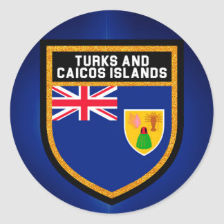 Turks And Caicos Flag Classic Round Sticker