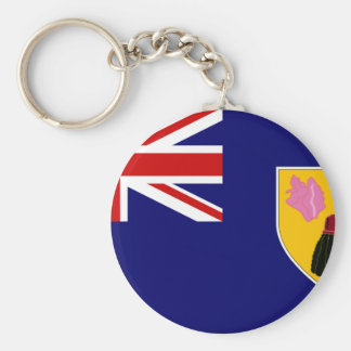 Turks And Caicos Flag Key Ring