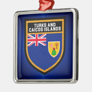 Turks And Caicos Flag Metal Ornament