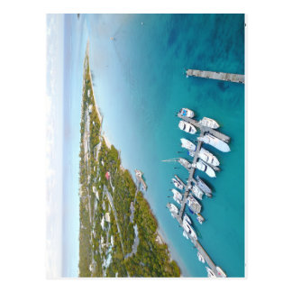 Turks and Caicos from above bag Postcard