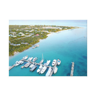 Turks and Caicos from above Canvas Print