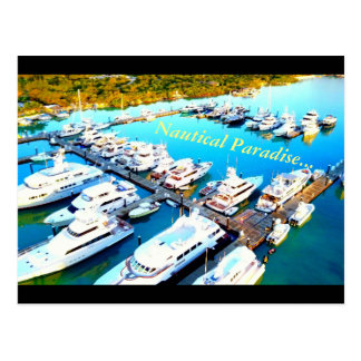 Turks and Caicos from above Nautical Paradise card