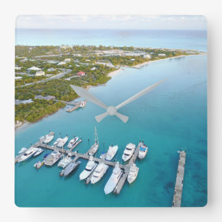 Turks and Caicos from above Square Wall Clock