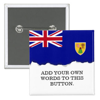 Turks and Caicos Islands Flag 15 Cm Square Badge