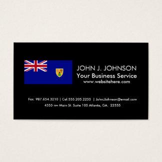 Turks and Caicos Islands Flag Business Card