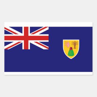 Turks and Caicos Islands Flag Rectangular Sticker