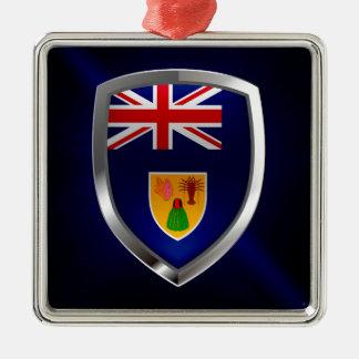Turks and Caicos Islands Metallic Emblem Metal Ornament