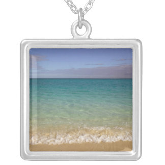 Turks and Caicos, Providenciales Island, Grace 2 Square Pendant Necklace