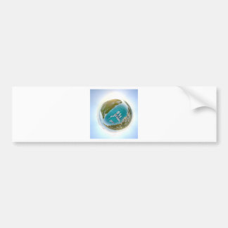 Turks and Caicos tiny planet panorama Bumper Sticker