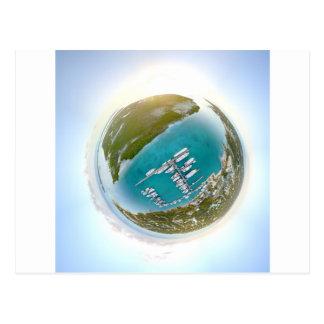 Turks and Caicos tiny planet panorama Postcard